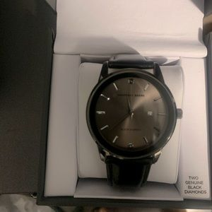 Geoffrey Beene Leather band day dial watch